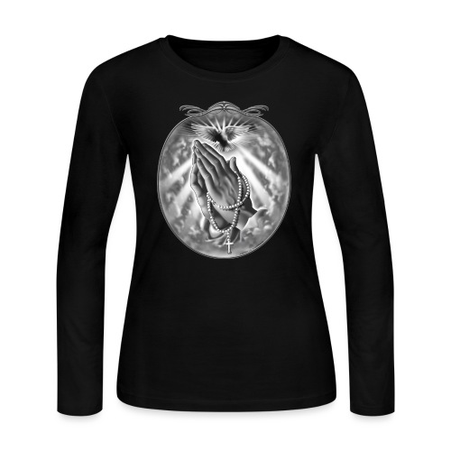 Praying Hands by RollinLow - Women's Long Sleeve Jersey T-Shirt