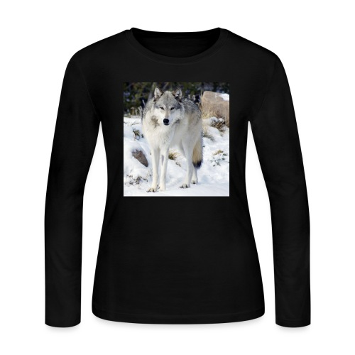 Canis lupus occidentalis - Women's Long Sleeve Jersey T-Shirt
