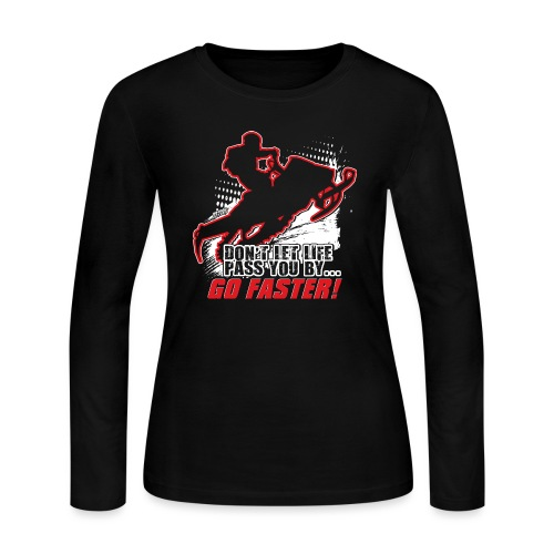 Snowmobile Faster Red - Women's Long Sleeve Jersey T-Shirt