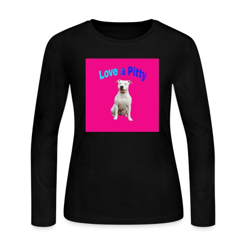 Pink Pit Bull - Women's Long Sleeve Jersey T-Shirt