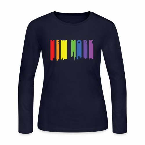 New York design Rainbow - Women's Long Sleeve Jersey T-Shirt