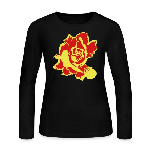 golden rose - Women's Long Sleeve Jersey T-Shirt
