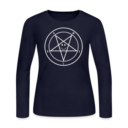 Smile Pentagram - Women's Long Sleeve Jersey T-Shirt