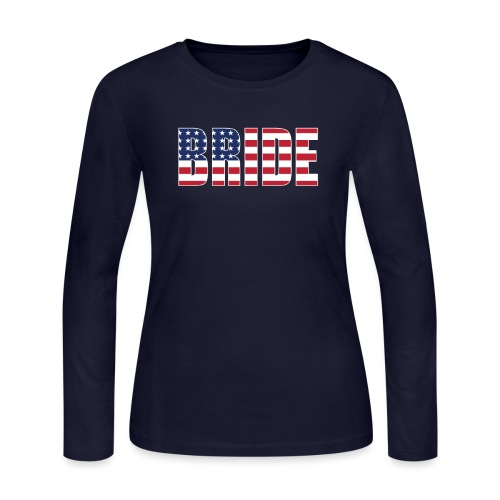 Bride Us Flag - Women's Long Sleeve Jersey T-Shirt