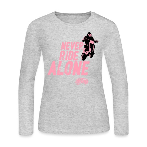 Never Ride Alone Black - Women's Long Sleeve Jersey T-Shirt