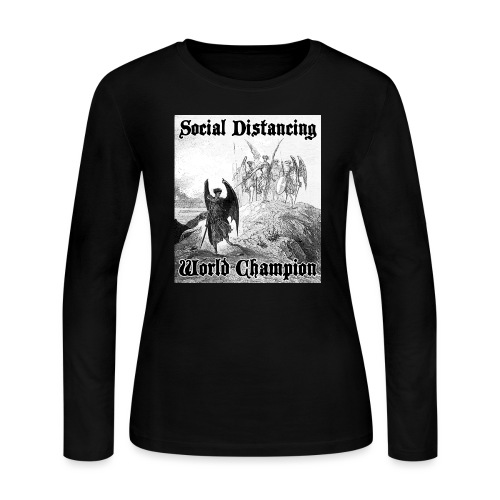 Social Distancing World Champion - Women's Long Sleeve Jersey T-Shirt