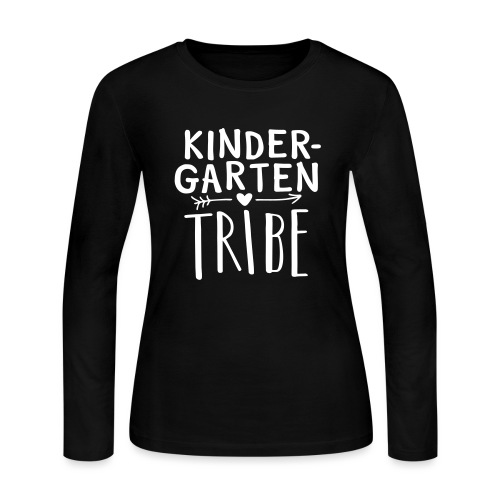 Kindergarten Tribe Teacher Team T-Shirts - Women's Long Sleeve Jersey T-Shirt