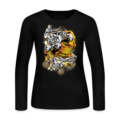 FMX Freestyle Abstract - Women's Long Sleeve Jersey T-Shirt