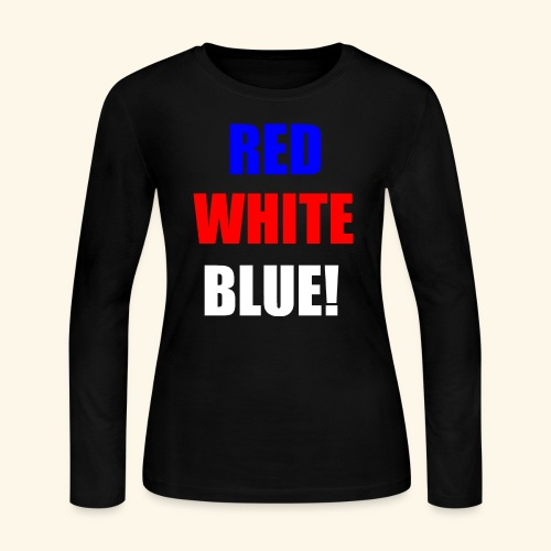 red white blue OCD - Women's Long Sleeve Jersey T-Shirt