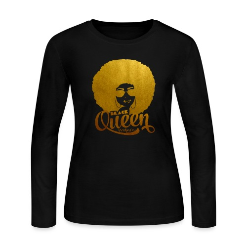 Black Queen - Women's Long Sleeve Jersey T-Shirt