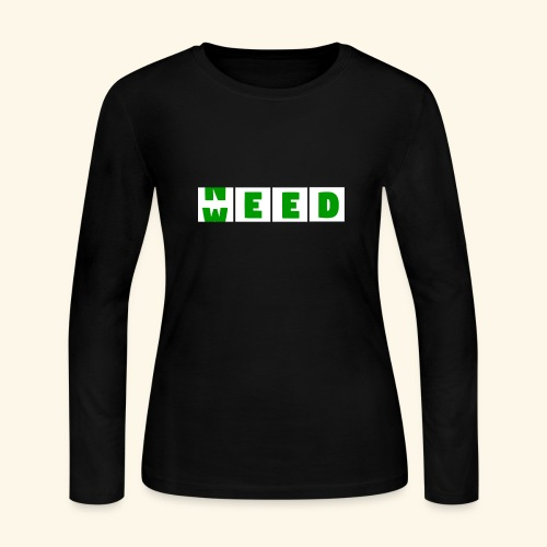 Weed is need - after buying weed is before buying - Women's Long Sleeve Jersey T-Shirt