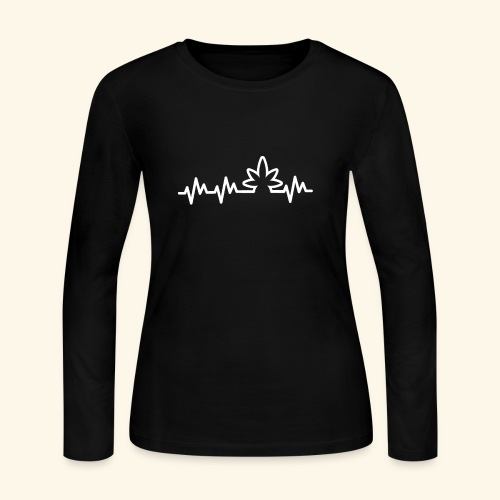 Lifeline - Heartbeat - Heartbeat of a stoner - 420 - Women's Long Sleeve Jersey T-Shirt