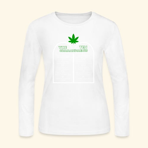 The Ten Commandments of cannabis - Women's Long Sleeve Jersey T-Shirt