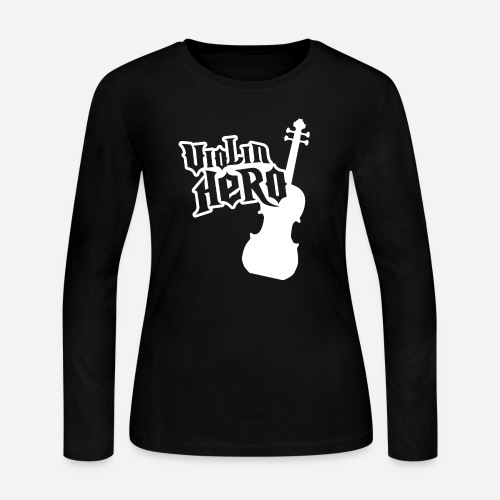 Violin Hero - Women's Long Sleeve Jersey T-Shirt
