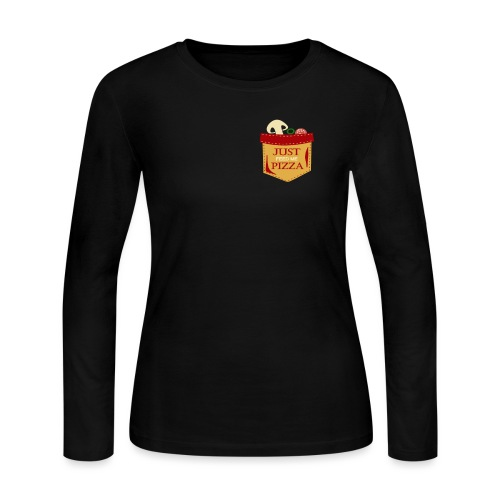 Just feed me pizza - Women's Long Sleeve Jersey T-Shirt