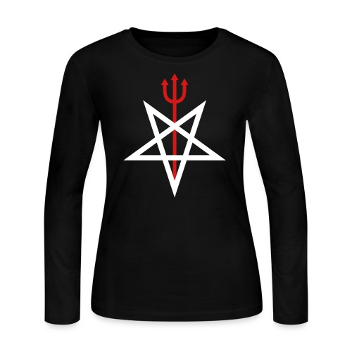 Pitchfork Pentagram - Women's Long Sleeve Jersey T-Shirt