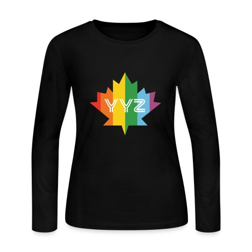 YYZ-Pride-LEAF - Women's Long Sleeve Jersey T-Shirt