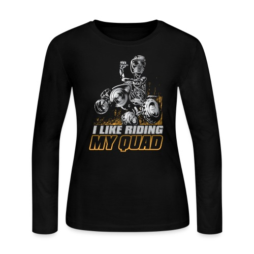 ATV Quad Like Stunt Rider - Women's Long Sleeve Jersey T-Shirt