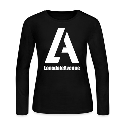 Lonsdale Avenue Logo White Text - Women's Long Sleeve Jersey T-Shirt