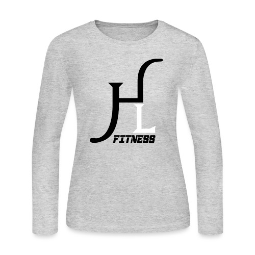 HIIT Life Fitness logo white - Women's Long Sleeve Jersey T-Shirt