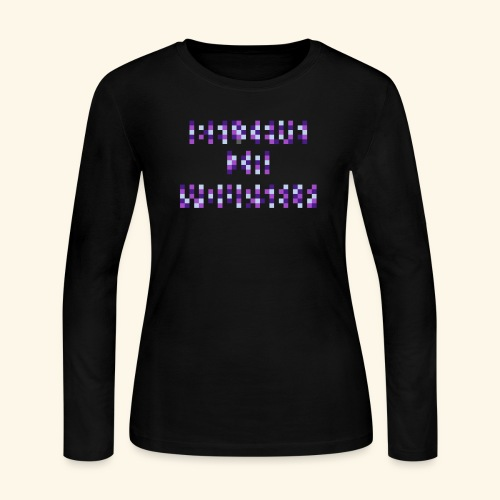 BELIEVE IN YOURSELF PURPLE #1 - Women's Long Sleeve Jersey T-Shirt