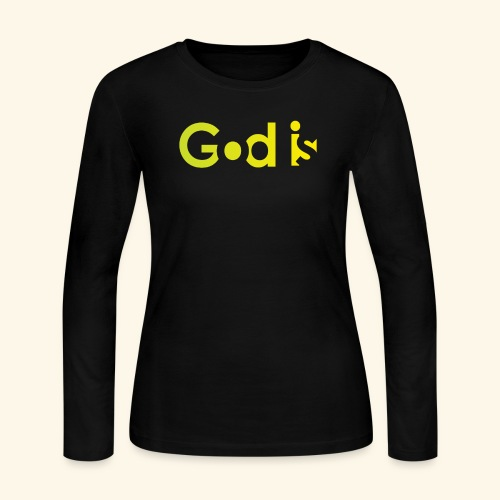 GOD IS #7 - Women's Long Sleeve Jersey T-Shirt