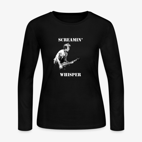 Screamin' Whisper Filth Design - Women's Long Sleeve Jersey T-Shirt