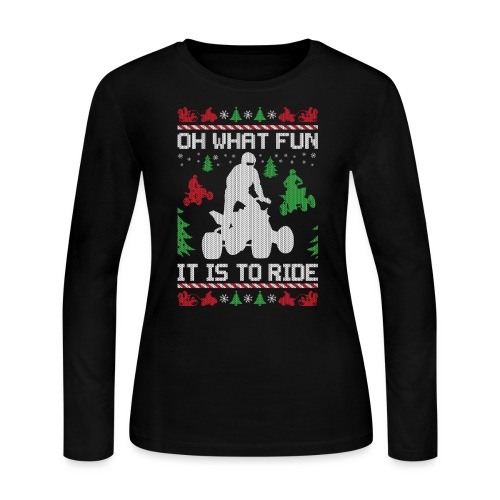 Ugly Christmas ATV Quad - Women's Long Sleeve Jersey T-Shirt