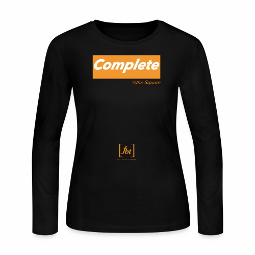 Complete the Square [fbt] - Women's Long Sleeve Jersey T-Shirt