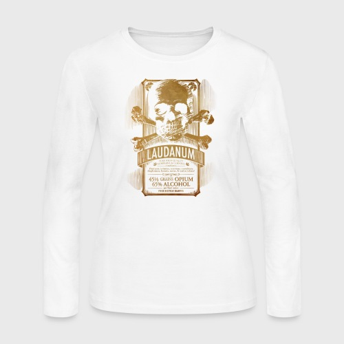 Laudanum Goth Steampunk Medical Doctor - Women's Long Sleeve Jersey T-Shirt