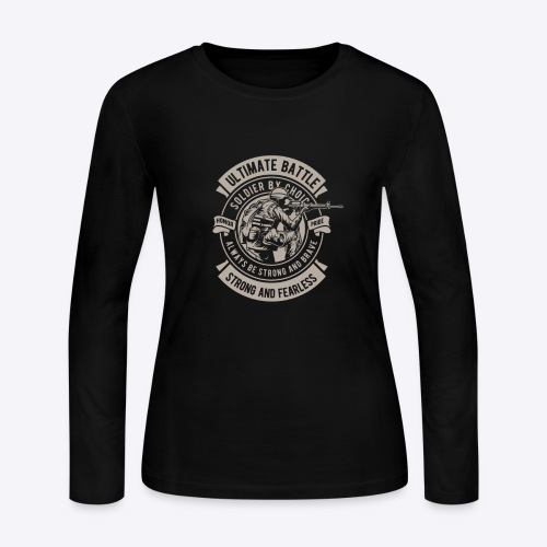 Soldier by choice - Women's Long Sleeve Jersey T-Shirt