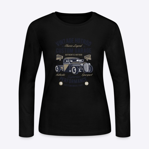 Vintage Hotrod - Women's Long Sleeve Jersey T-Shirt