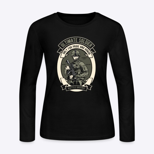 The ultimate soldier - Women's Long Sleeve Jersey T-Shirt