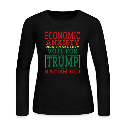 Racists Voted For Trump T-shirts - Women's Long Sleeve Jersey T-Shirt