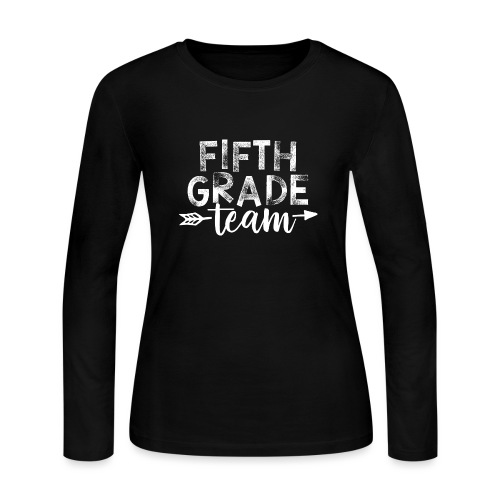Fifth Grade Team Arrow Teacher T-Shirts - Women's Long Sleeve Jersey T-Shirt