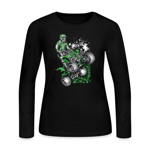 Yamaha ATV Grunge Quad - Women's Long Sleeve Jersey T-Shirt