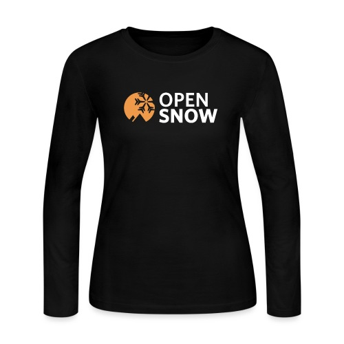 OpenSnow Logo Horizontal White - Women's Long Sleeve Jersey T-Shirt