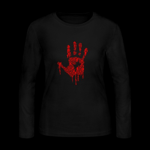 The Haunted Hand Of Zombies - Women's Long Sleeve Jersey T-Shirt