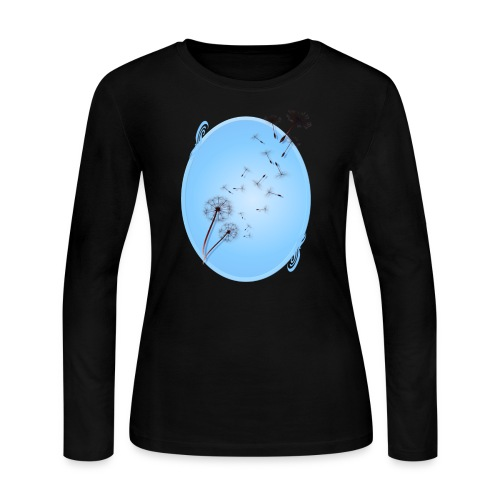 Dandelion on Baby Blue - Women's Long Sleeve Jersey T-Shirt