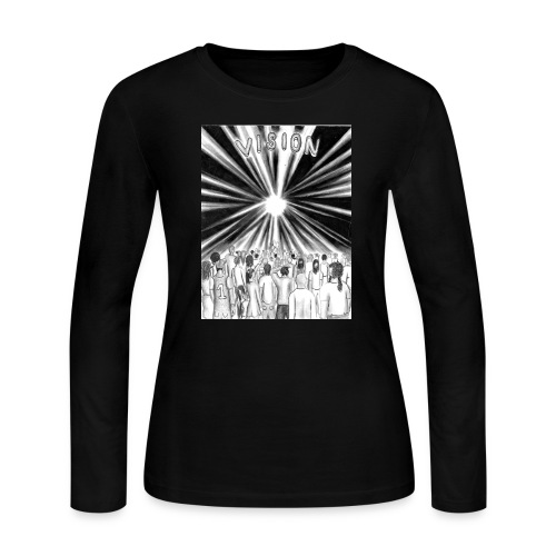 Black_and_White_Vision - Women's Long Sleeve Jersey T-Shirt