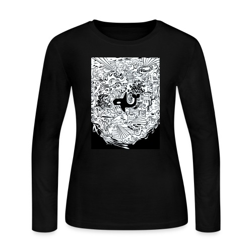 night hunt negative - Women's Long Sleeve Jersey T-Shirt