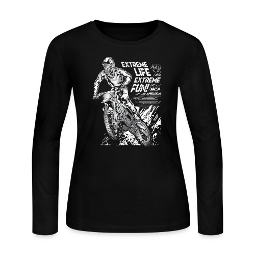 Motocross Extreme Fun - Women's Long Sleeve Jersey T-Shirt