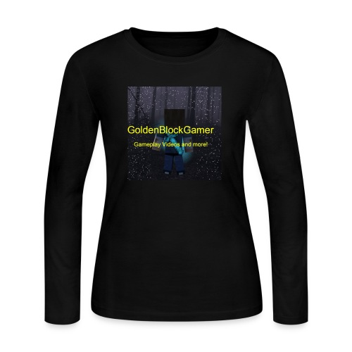 GoldenBlockGamer Tshirt - Women's Long Sleeve Jersey T-Shirt