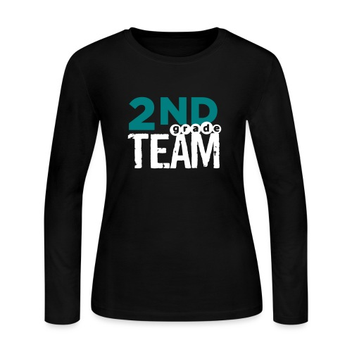 Bold 2nd Grade Team Teacher T Shirts - Women's Long Sleeve Jersey T-Shirt