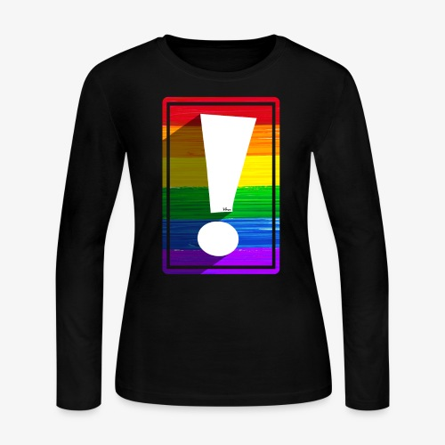 LGBTQ Pride Exclamation Point - Women's Long Sleeve Jersey T-Shirt
