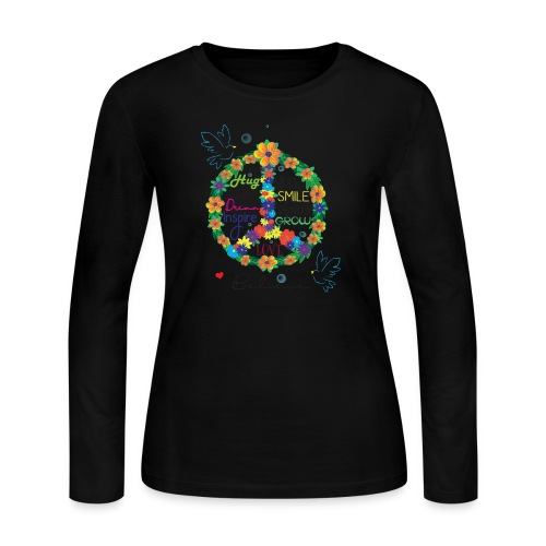 Floral Peace - Women's Long Sleeve Jersey T-Shirt