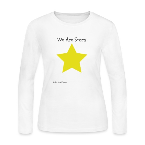 Hi I'm Ronald Seegers Collection-We Are Stars - Women's Long Sleeve Jersey T-Shirt