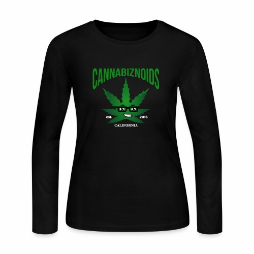 Cannabiznoids Logo with Text - Women's Long Sleeve Jersey T-Shirt