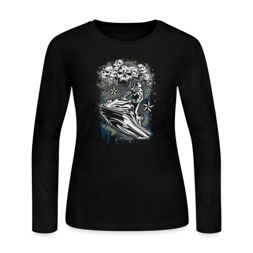 Jet Ski Skull Bunch - Women's Long Sleeve Jersey T-Shirt