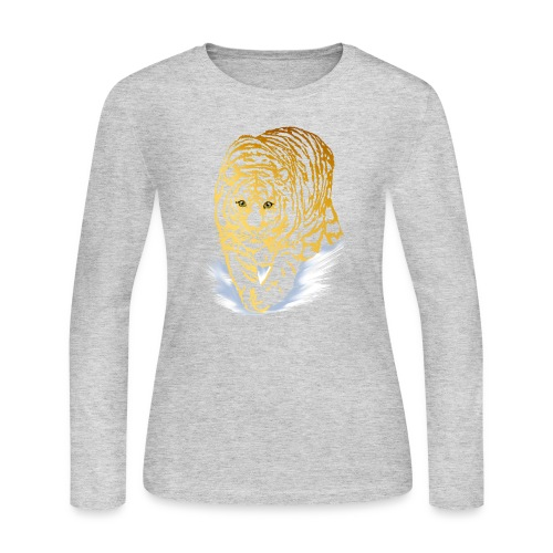 Golden Snow Tiger - Women's Long Sleeve Jersey T-Shirt
